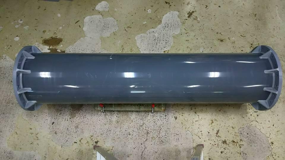 PVC配管フランジ横