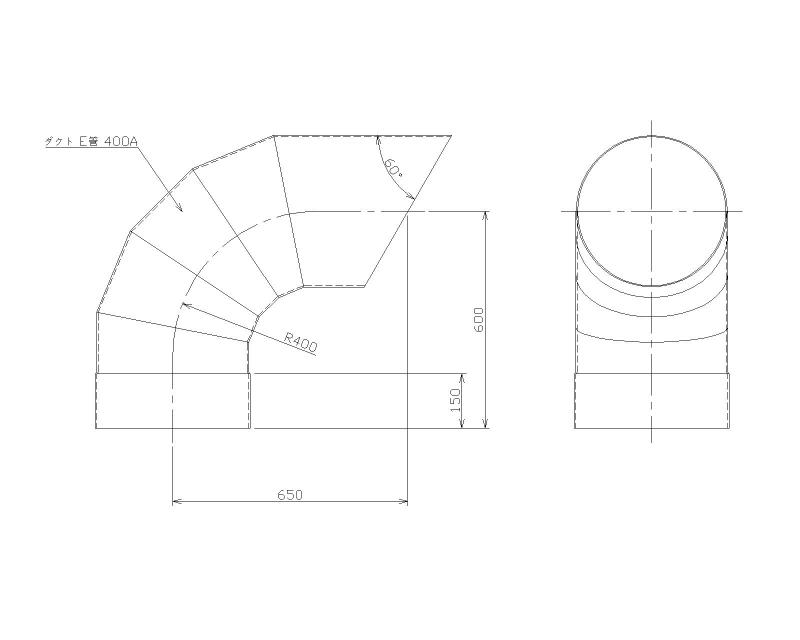 PVCダクト排出管設計図面